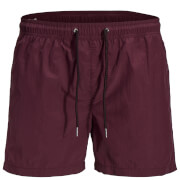 Jack & Jones Originals Men's Sunset Swim Shorts - Burgundy
