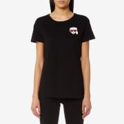 Karl Lagerfeld Women's Ikonik Emoji Karl T-Shirt - Black