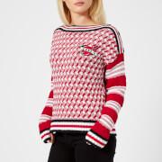 Karl Lagerfeld Women's Captain Karl Sweatshirt - Red - M - Red