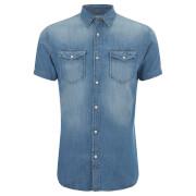 Jack & Jones Men's Originals Sheridan Denim Shirt - Dark Blue Denim