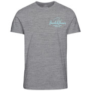 Jack & Jones Men's Originals Art Chest Print T-Shirt - Light Grey Marl