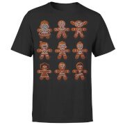 Star Wars Christmas Gingerbread Characters Black T-Shirt