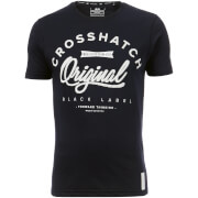 Crosshatch Men's Freemans T-Shirt - Night Sky - L - Blue