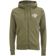 Crosshatch Men's Brombin Zip Through Hoody - Dusty Olive