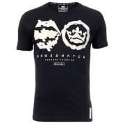 T-Shirt Homme Unsteady Crosshatch - Bleu Marine