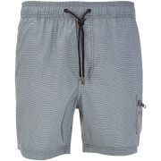 Dissident Men's Vittorino Fine Stripe Swim Shorts - Black