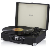 iTek 3 Speed Bluetooth Turntable With Built-In Speakers - Black