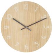 Karlsson Small Glass Wall Clock - Light Wood