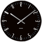Karlsson Small Slim Index Mirror Edge Wall Clock - Black