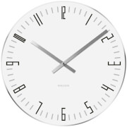 Karlsson Small Slim Index Mirror Edge Wall Clock - White