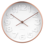 Karlsson Stout Wall Clock - Copper Plated