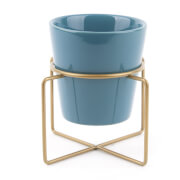 PT Ceramic Coy Plant Pot - Petrol Blue