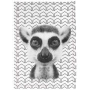Cotton Tea Towel - Lemur