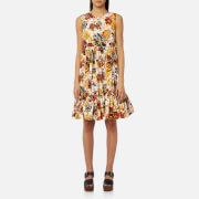 MSGM Women's Floral Midi Dress - Multi - IT 40/UK 8 - Multi