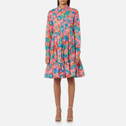 MSGM Women's Floral Shirt Dress - Multi