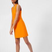 MSGM Women's V Neck Mini Dress - Orange - IT 42/UK 10 - Orange