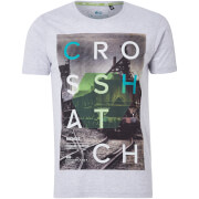 T shirt homme silverstreak crosshatch gris clair chiné s gris