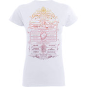 Harry Potter Hogwarts School List Frauen T-Shirt - Weiß