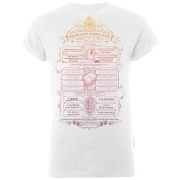 Harry Potter Hogwarts School List Men's White T-Shirt