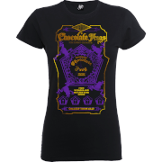 Harry Potter Honeydukes Chocolate Frogs Dames T-shirt - Zwart/Paars/Goud