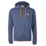 Tokyo Laundry Men's Hanover Zip Through Hoody - Mood Indigo
