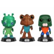 Lot de 3 Figurines Pop! EXC Greedo, Hammerhead et Walrus Man - Star Wars