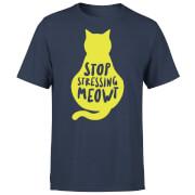 Stop Stressing Meowt T-Shirt - Navy