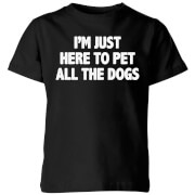 I'm Just Here To Pet The Dogs Kids' T-Shirt - Black