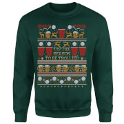 Sweat Homme Tis The Season To Be Trollied - Vert