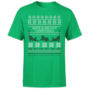 Meowy Christmas T-Shirt - Kelly Green