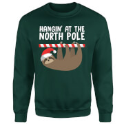 Hangin' At The North Pole Sweatshirt - Forest Green