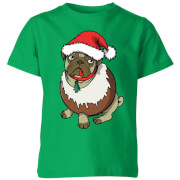 Christmas Puggin Kids' T-Shirt - Kelly Green