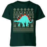 Stegosantahats Kids' T-Shirt - Forest Green