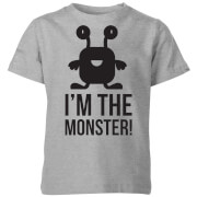 My little rascal im the monster kids t shirt grey 5 6 ans gris