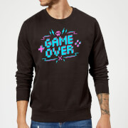 Game over gaming sweatshirt black l noir