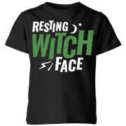 Resting witch face kids t shirt black 9 10 ans noir