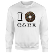I Donut Care Sweatshirt - White