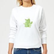 Cactus trio Womens Sweatshirt - White - 3XL - White