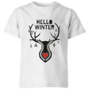 Hello Winter Kids' T-Shirt - White