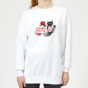 Seasons Greetings Womens Sweatshirt - White - XXL - White