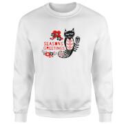 Seasons Greetings Sweatshirt - White - S - White