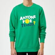Anyone For Tennis Sweatshirt   Kelly Green   S   Kelly Green