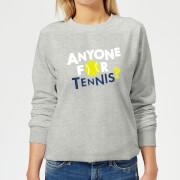 Anyone For Tennis Womens Sweatshirt   Grey   XL   Grey