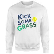 Kick Some Grass Sweatshirt - White