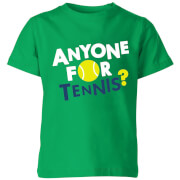 Anyone for Tennis Kids T-Shirt - Kelly Green - 11-12 Years - Kelly Green