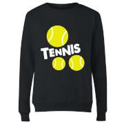 Tennis Balls Women's Sweatshirt - Black
