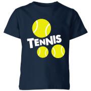 Tennis Balls Kids' T-Shirt - Navy