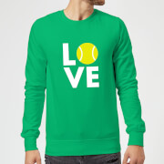 Love Tennis Sweatshirt   Kelly Green   L   Kelly Green