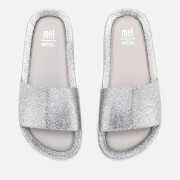 Mini Melissa Kids' Beach Slide Sandals - Silver Glitter