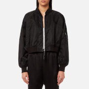 T by Alexander Wang Women's Nylon Twill Jacket - Black - M - Black